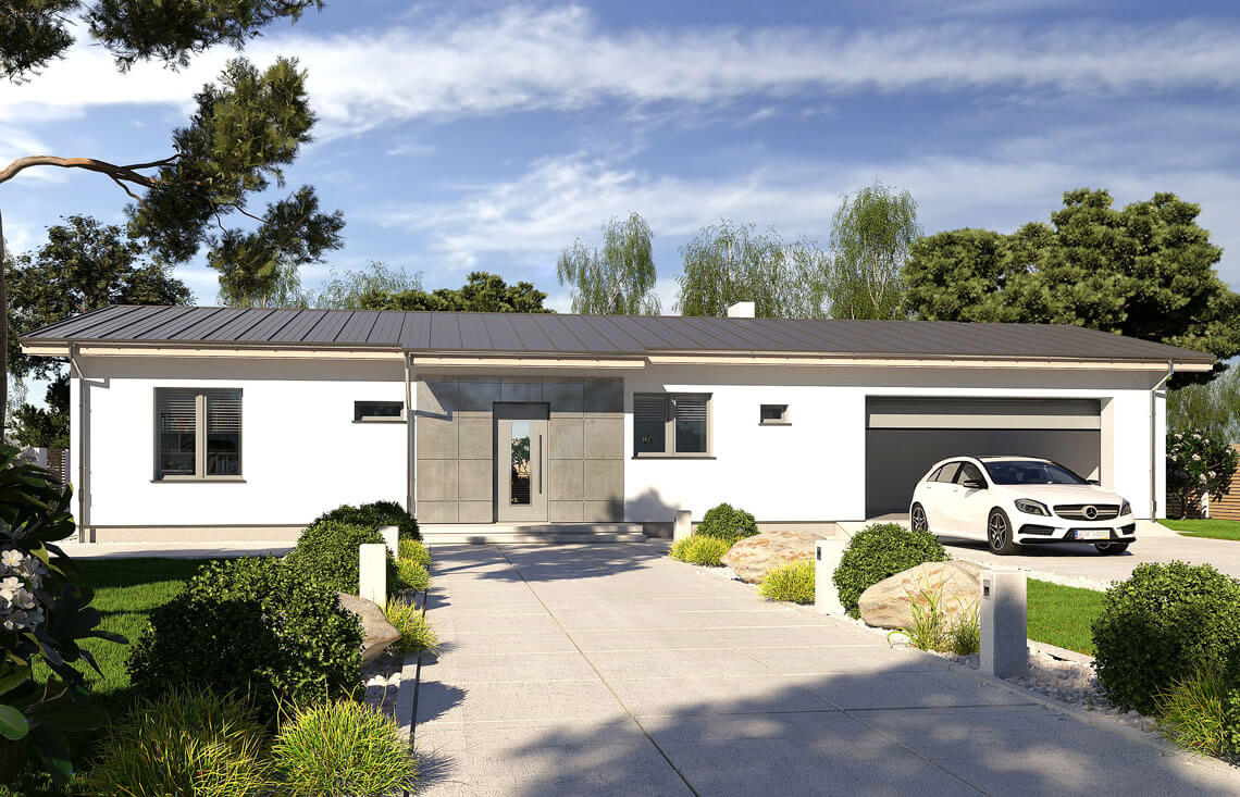 Projekt domu jednorodzinnego Nina F i F Plus widok front
