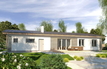 Projekt domu jednorodzinnego Nina F i F Plus widok ogród
