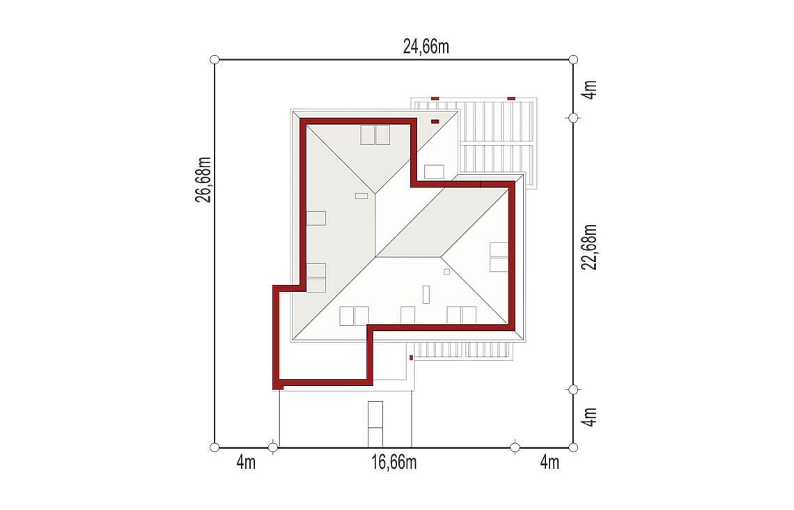Projekt domu jednorodzinnego Alexandria sytuacja