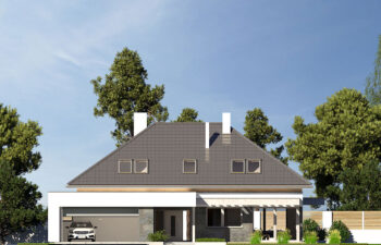Projekt domu jednorodzinnego Alexandria elewacja front