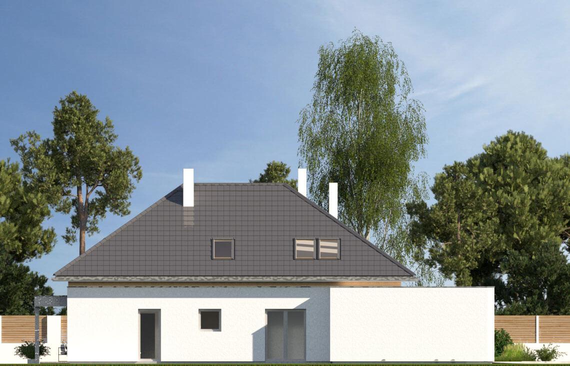 Projekt domu jednorodzinnego Alexandria elewacja lewa