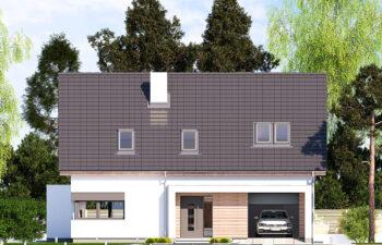 Projekt domu jednorodzinnego Ewa Lux Modern elewacja front
