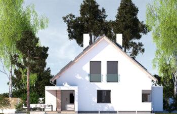 Projekt domu jednorodzinnego Ewa Lux Modern elewacja lewa