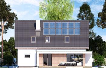Projekt domu jednorodzinnego Ewa Lux Modern elewacja ogród