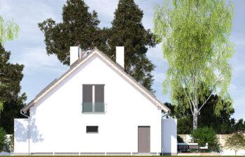 Projekt domu jednorodzinnego Ewa Lux Modern elewacja prawa