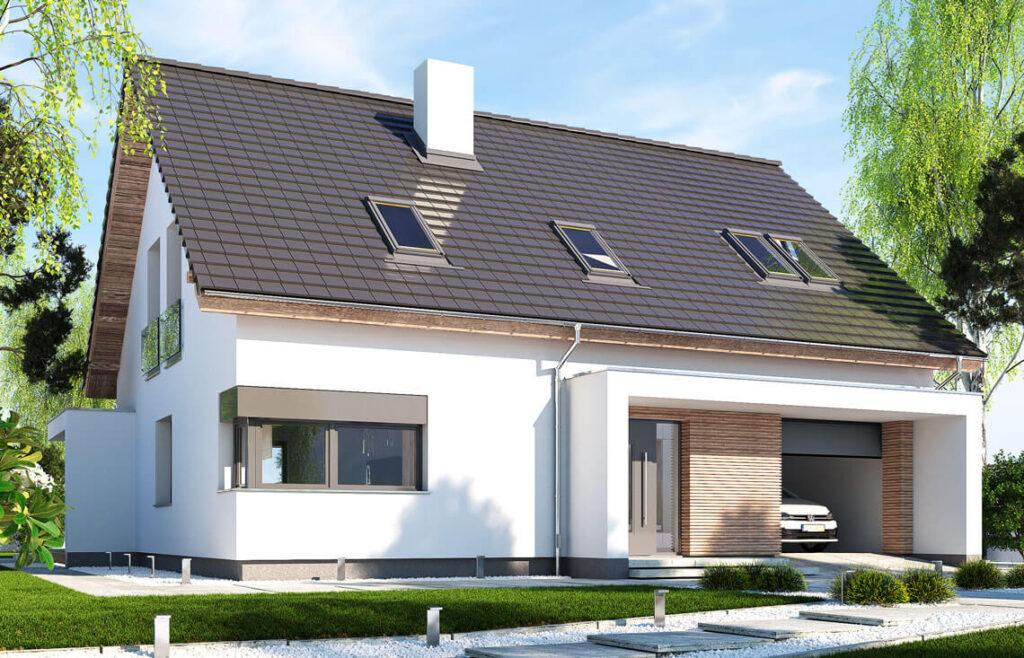 Projekt domu jednorodzinnego Ewa Lux Modern widok front