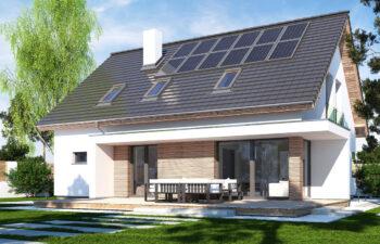 Projekt domu jednorodzinnego Ewa Lux Modern widok ogród