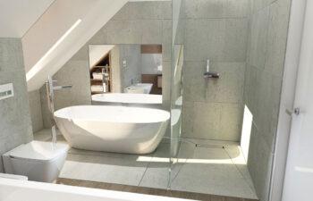 Projekt domu jednorodzinnego Ewa Lux Modern wnętrze łazienka 2
