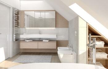 Projekt domu jednorodzinnego Ewa Lux Modern wnętrze łazienka