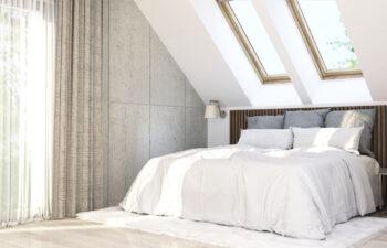 Projekt domu jednorodzinnego Ewa Lux Modern wnętrze sypialnia