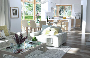 Projekt domu jednorodzinnego Carmen Magdalena B wnetrze salon