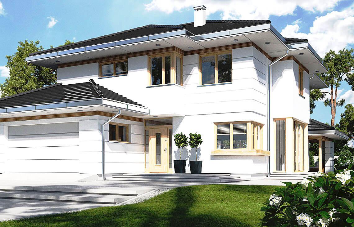 Projekt domu jednorodzinnego Carmen Magdalena B widok front