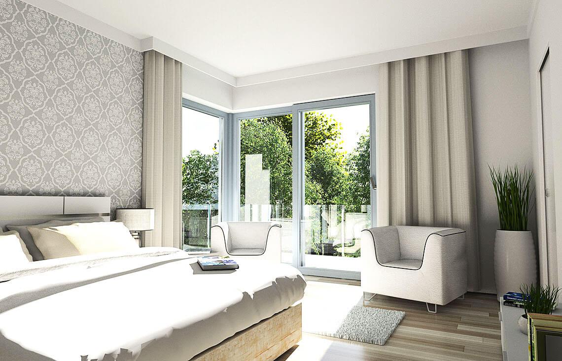 Projekt domu jednorodzinnego Carmen Magdalena B wnętrze sypialniat